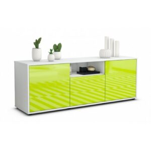 """Wygant TV Stand for TVs up to 39"""" Brayden Studio Colour: High-gloss Green / Matte White"""