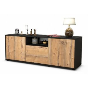 "Wygant TV Stand for TVs up to 39"" Brayden Studio Colour: Pine / Matte Anthracite"