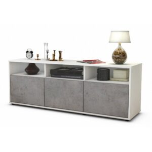 "Wylie TV Stand for TVs up to 39"" Brayden Studio Colour: Concrete / Matte White"