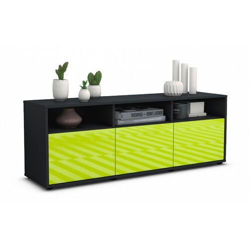 """Wylie TV Stand for TVs up to 39"""" Brayden Studio Colour: High-gloss Green / Matte Anthracite"""