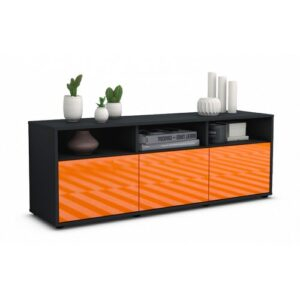 "Wylie TV Stand for TVs up to 39"" Brayden Studio Colour: High-gloss Orange / Matte Anthracite"