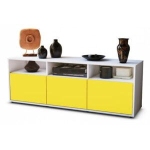 "Wylie TV Stand for TVs up to 39"" Brayden Studio Colour: Yellow / Matte White"