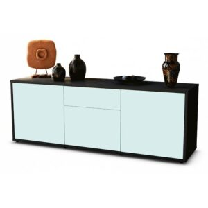 """Wymore TV Stand for TVs up to 39"""" Brayden Studio Colour: Light Blue / Matte Anthracite"""
