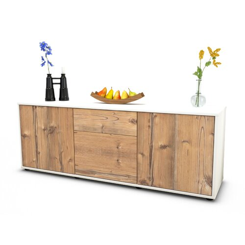 """Wymore TV Stand for TVs up to 39"""" Brayden Studio Colour: Pine / Matte White"""