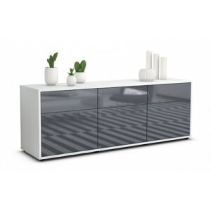 "Wynkoop TV Stand for TVs up to 39"" Brayden Studio Colour: High-gloss Grey / Matte White"