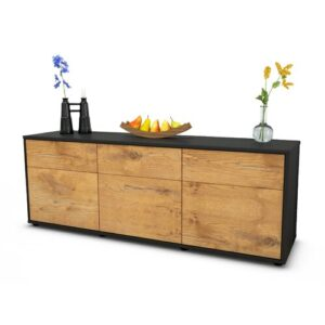 "Wynkoop TV Stand for TVs up to 39"" Brayden Studio Colour: Oak / Matte Anthracite"