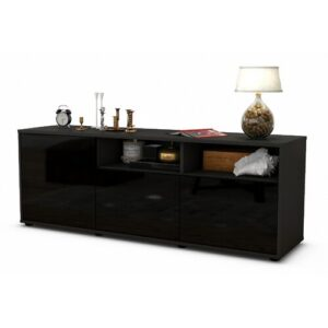 "Wysocki TV Stand for TVs up to 39"" Brayden Studio Colour: High-gloss Black / Matte Anthracite"