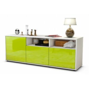 "Wysocki TV Stand for TVs up to 39"" Brayden Studio Colour: High-gloss Green / Matte White"