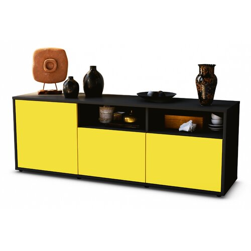 """Wysocki TV Stand for TVs up to 39"""" Brayden Studio Colour: Yellow / Matte Anthracite"""