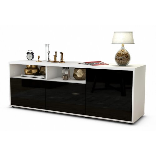 """Wyss TV Stand for TVs up to 39"""" Brayden Studio Colour: High-gloss Black / Matte White"""