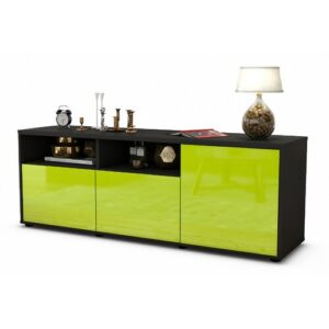 "Wyss TV Stand for TVs up to 39"" Brayden Studio Colour: High-gloss Green / Matte Anthracite"