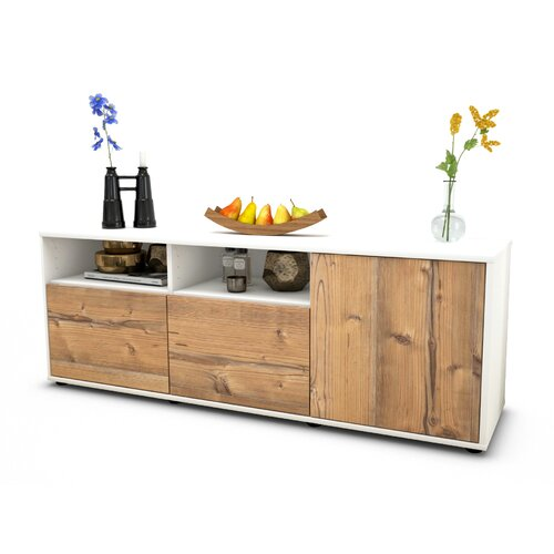 """Wyss TV Stand for TVs up to 39"""" Brayden Studio Colour: Pine / Matte White"""