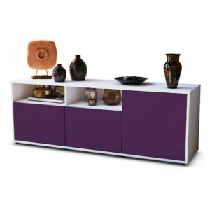 "Wyss TV Stand for TVs up to 39"" Brayden Studio Colour: Purple / Matte White"