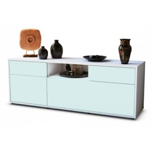 """Yager TV Stand for TVs up to 39"""" Brayden Studio Colour: Light Blue / Matte White"""