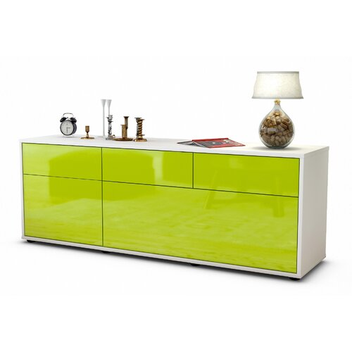 "Yamada TV Stand for TVs up to 39"" Brayden Studio Colour: High-gloss Green / Matte White"