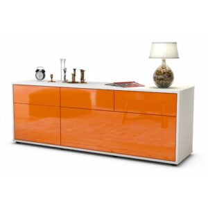 "Yamada TV Stand for TVs up to 39"" Brayden Studio Colour: High-gloss Orange / Matte White"