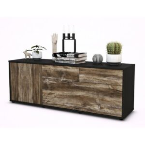 "Yamaguchi TV Stand for TVs up to 60"" Brayden Studio Colour: Driftwood / Matte Anthracite"