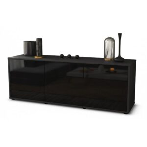 """Yamaguchi TV Stand for TVs up to 60"""" Brayden Studio Colour: High-gloss Black / Matte Anthracite"""