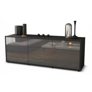 """Yamaguchi TV Stand for TVs up to 60"""" Brayden Studio Colour: High-gloss Grey / Matte Anthracite"""