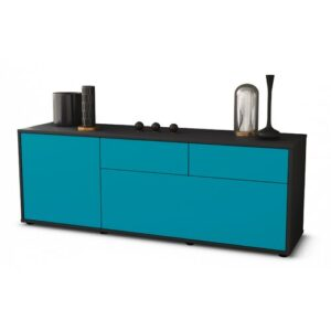 "Yamaguchi TV Stand for TVs up to 60"" Brayden Studio Colour: Turquoise / Matte Anthracite"