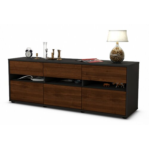 "Yamashita TV Stand for TVs up to 39"" Brayden Studio Colour: Walnuss/Matt Anthrazit"