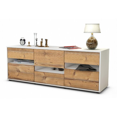 "Yandell TV Stand for TVs up to 39"" Brayden Studio Colour: Pine / Matte White"