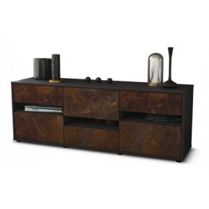"""Yandell TV Stand for TVs up to 39"""" Brayden Studio Colour: Rust / Matte Anthracite"""