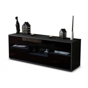 "Yarber TV Stand for TVs up to 39"" Brayden Studio Colour: High-gloss Black / Matte Anthracite"