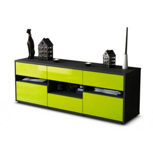 """Yarber TV Stand for TVs up to 39"""" Brayden Studio Colour: High-gloss Green / Matte Anthracite"""