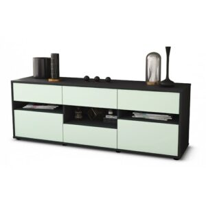 "Yarber TV Stand for TVs up to 39"" Brayden Studio Colour: Light Blue / Matte Anthracite"