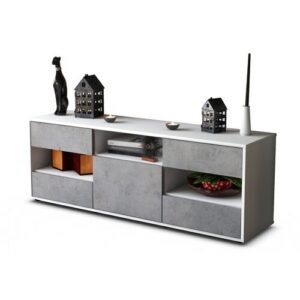 """Yarger TV Stand for TVs up to 39"""" Brayden Studio Colour: Concrete / Matte White"""