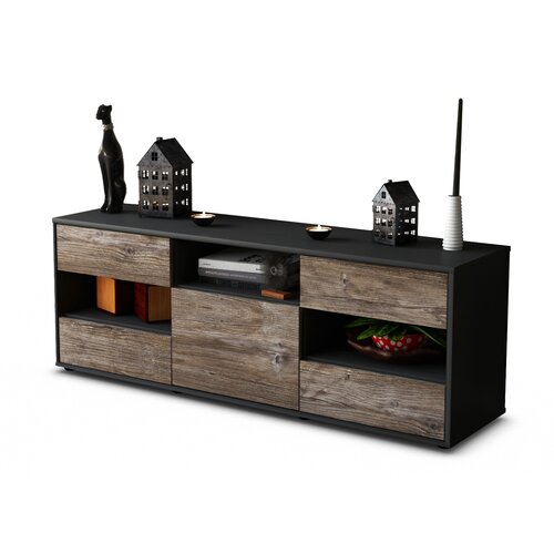 """Yarger TV Stand for TVs up to 39"""" Brayden Studio Colour: Driftwood / Matte Anthracite"""