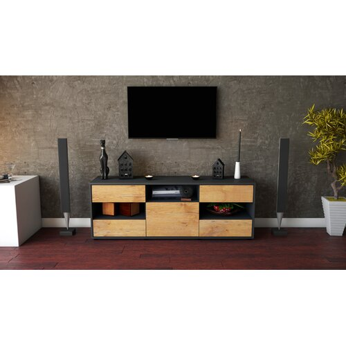 "Yarger TV Stand for TVs up to 39"" Brayden Studio Colour: Oak / Matte Anthracite"