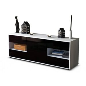 "Ybanez TV Stand for TVs up to 39"" Brayden Studio Colour: High-gloss Black / Matte White"