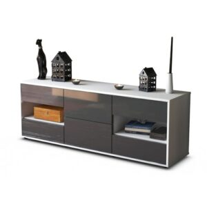"""Ybanez TV Stand for TVs up to 39"""" Brayden Studio Colour: High-gloss Grey / Matte White"""