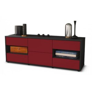 """Ybanez TV Stand for TVs up to 39"""" Brayden Studio Colour: Red / Matte Anthracite"""