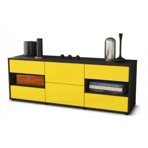 """Ybanez TV Stand for TVs up to 39"""" Brayden Studio Colour: Yellow / Matte Anthracite"""