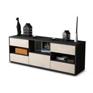 "Yearby TV Stand for TVs up to 39"" Brayden Studio Colour: Cedar / Matte Anthracite"