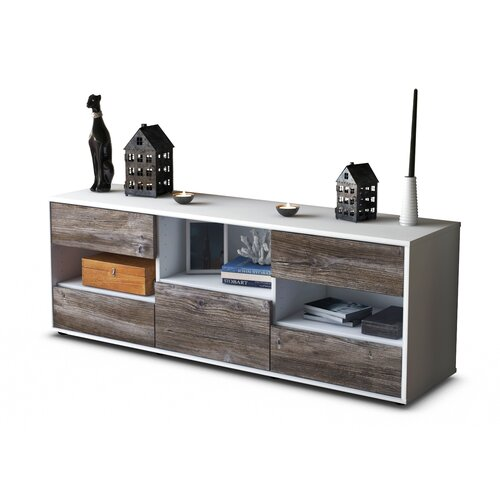 """Yearby TV Stand for TVs up to 39"""" Brayden Studio Colour: Driftwood / Matte White"""
