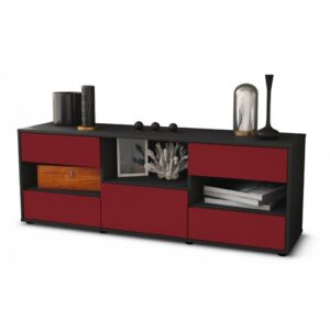 """Yearby TV Stand for TVs up to 39"""" Brayden Studio Colour: Red / Matte Anthracite"""