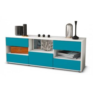 "Yearby TV Stand for TVs up to 39"" Brayden Studio Colour: Turquoise / Matte White"