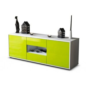 """Yearwood TV Stand for TVs up to 39"""" Brayden Studio Colour: High-gloss Green / Matte White"""