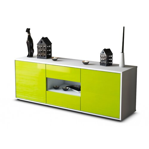 "Yearwood TV Stand for TVs up to 39"" Brayden Studio Colour: High-gloss Green / Matte White"