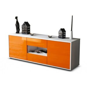 """Yearwood TV Stand for TVs up to 39"""" Brayden Studio Colour: High-gloss Orange / Matte White"""