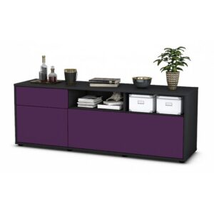 "Yeates TV Stand for TVs up to 39"" Brayden Studio Colour: Purple / Matte Anthracite"