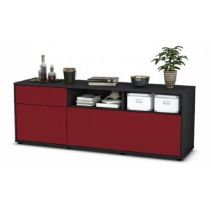 """Yeates TV Stand for TVs up to 39"""" Brayden Studio Colour: Red / Matte Anthracite"""
