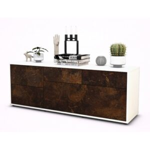 """Yeates TV Stand for TVs up to 39"""" Brayden Studio Colour: Rust / Matte White"""