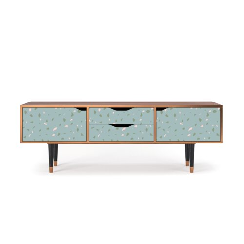 """Zayac TV Stand for TVs up to 70"""" Ebern Designs Pattern: Blue Drops"""