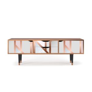 """Zayac TV Stand for TVs up to 70"""" Ebern Designs Pattern: Champagne Story"""
