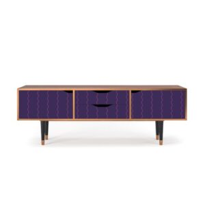"Zayac TV Stand for TVs up to 70"" Ebern Designs Pattern: Grape Maccaroni"